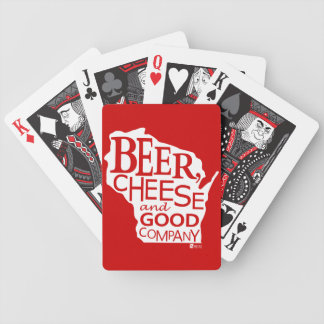 Beer Cheese & Good Company Zany Du Designs WI Bicycle Playing Cards