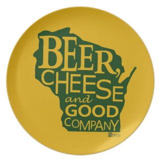 Beer Cheese & Good Company Zany Du Designs WI Melamine Plate