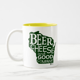 Beer Cheese & Good Company Zany Du Designs WI Two-Tone Coffee Mug