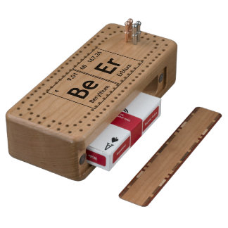 BeEr Chemistry Periodic Table Element Symbols Word Wood Cribbage Board