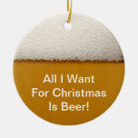 Beer Christmas Ornament