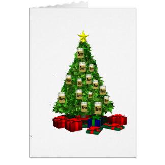Beer Christmas  tree Card