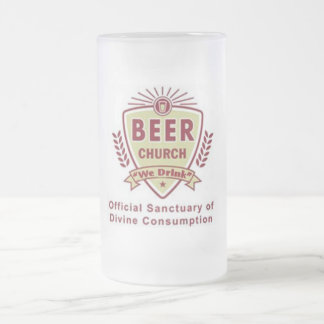 Beer Church Frosted Glass Beer Mug