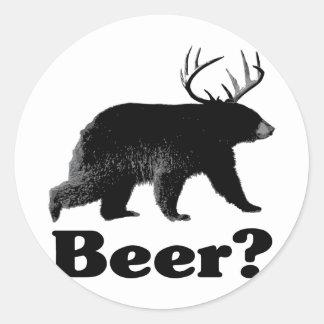 Beer? Classic Round Sticker