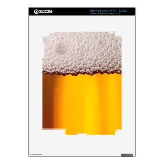 Beer Closeup Drink Party Yellow Pattern iPad 3 Decal