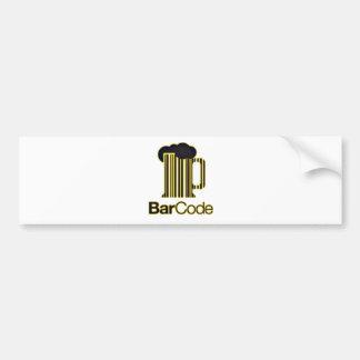 Beer code bumper sticker