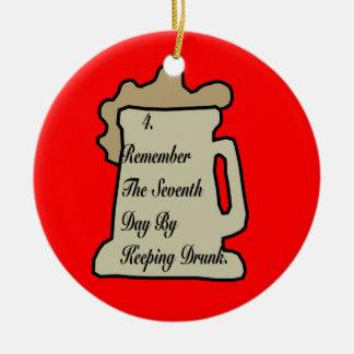 Beer Commandment 4TH Ornament