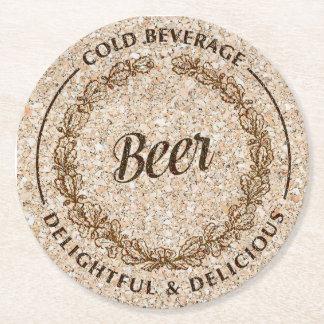 Beer cork paper coasters