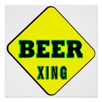 Beer Crossing Poster