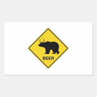 Beer Crossing Rectangular Sticker