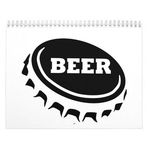 Beer crown cork cap seal calendar