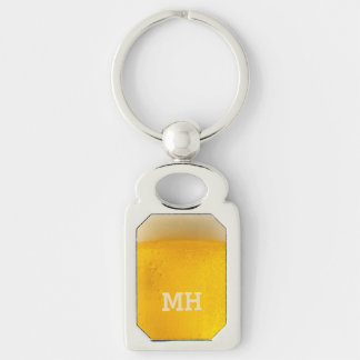 BEER custom monogram key chain