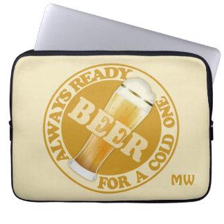 BEER custom monogram laptop sleeves
