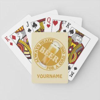 BEER custom monogram playing cards