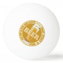 BEER custom name ping pong balls