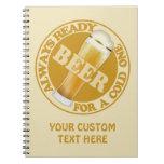 BEER custom notebook