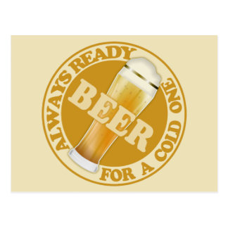 BEER customizable postcard