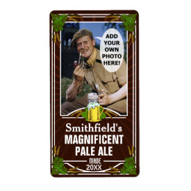 Beer Customized Photo Brown Shipping Label