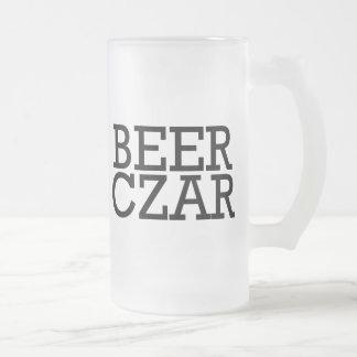 Beer Czar Frosted Glass Beer Mug