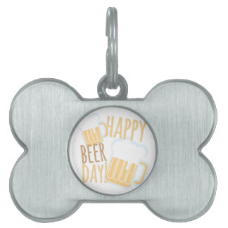 Beer Day Pet Name Tag