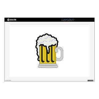 "Beer Decals For 17"" Laptops"