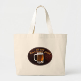 Beer Delivery Guy Large Tote Bag
