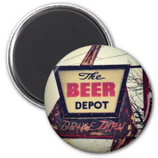 Beer Depot 2 Inch Round Magnet