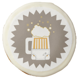 Beer & Diaper Party Sugar Cookies Sugar Cookie