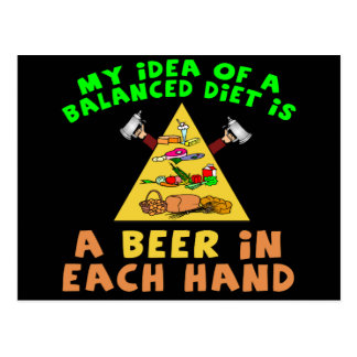 Beer Diet T-shirts Gifts Postcard