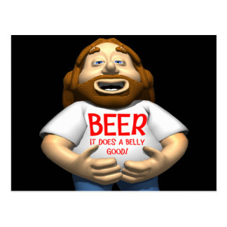 Beer Does A Belly Good T-shirts Gifts Postcard