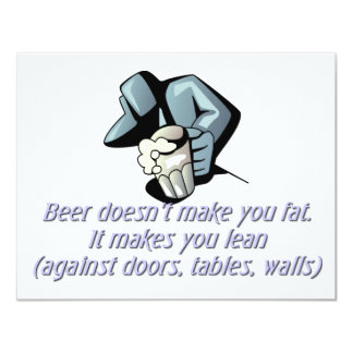 Beer doesn't make you fat card