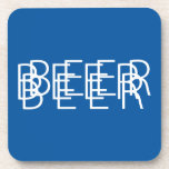BEER Double Vision - Blue and White Coaster