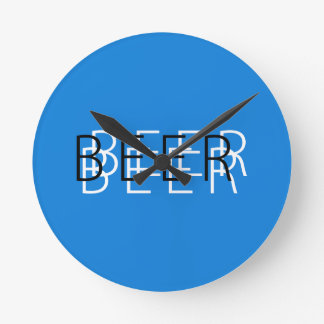 BEER Double Vision - Blue, White and Black Wallclock