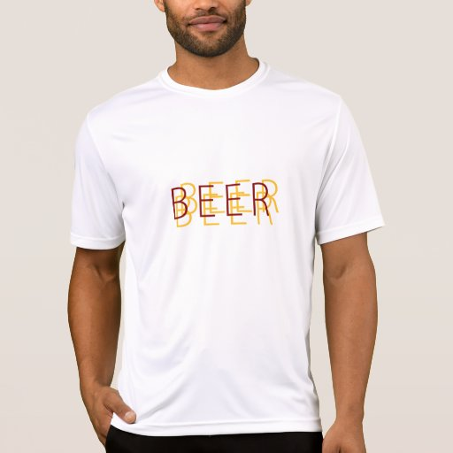 BEER Double Vision - Cardinal Red and Gold Tee Shirts