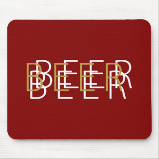 BEER Double Vision - Garnet, Gold and White Mouse Pad