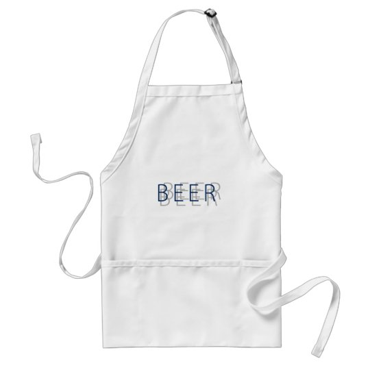 BEER Double Vision - Gray and Black Adult Apron