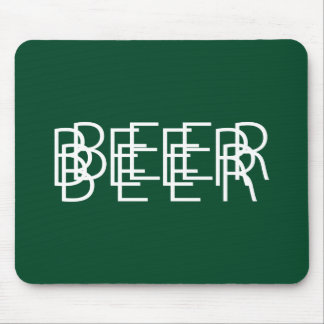 BEER Double Vision - Green and White Mouse Pad