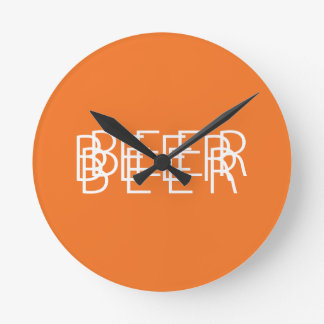 BEER Double Vision - Orange and White Clocks