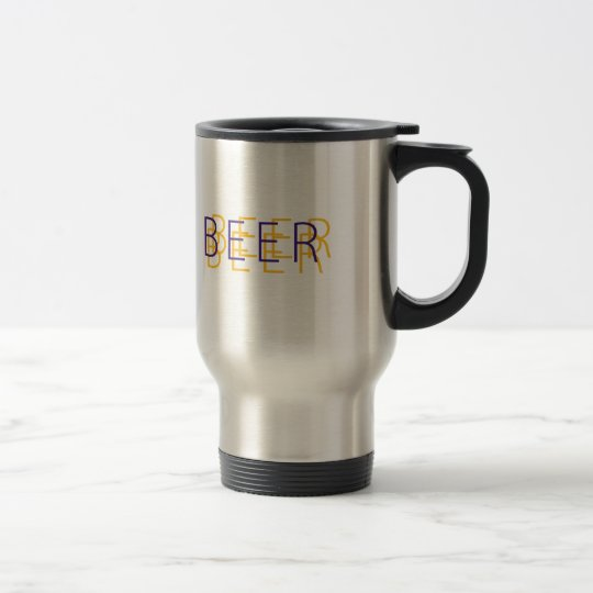 BEER Double Vision - Purple Gold Travel Mug