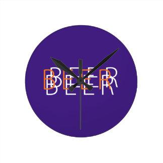 BEER Double Vision - Purple, Orange, White Clock
