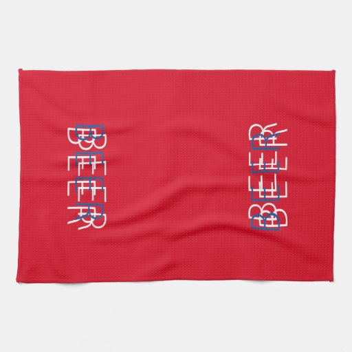 BEER Double Vision - Red White Blue Hand Towel