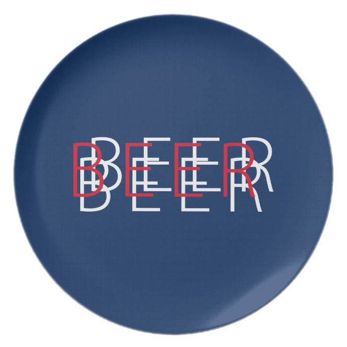 BEER Double Vision - Red, White, Blue Plate