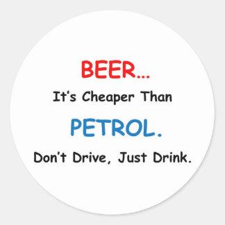 beer drink classic round sticker