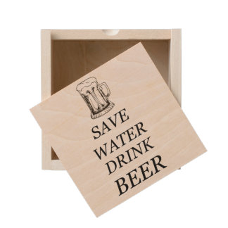 Beer Drink Food Wooden Keepsake Box