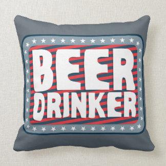 Beer Drinker 2 Throw Pillow