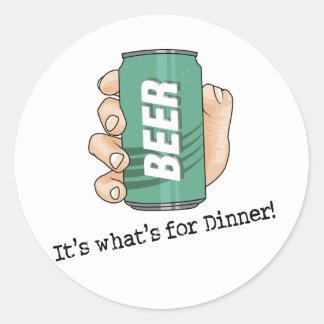 Beer Drinker Classic Round Sticker