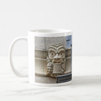 Beer-drinker gargoyle mug