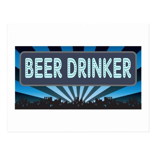 Beer Drinker Marquee Postcard