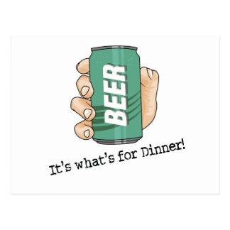 Beer Drinker Postcard