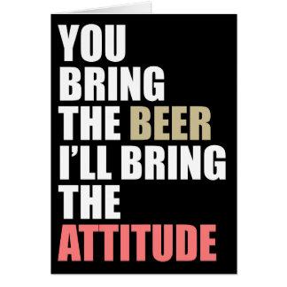 Beer Drinkin' Invite Card